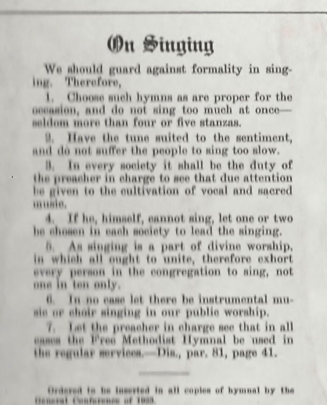 Hymnal Rules