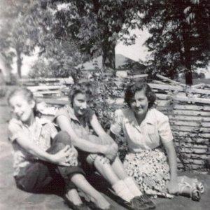 Katie, Janice & me '55